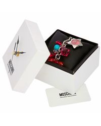 Moschino - Time For Holiday - Pink Stainless Steel Charm Bracelet Watch - Lyst