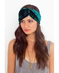 Nasty Gal | Green Emerald Velvet Turband | Lyst
