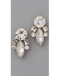 Noir Jewelry | Metallic Crystal Cluster Earrings | Lyst