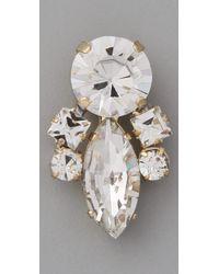 Noir Jewelry - Metallic Crystal Cluster Earrings - Lyst