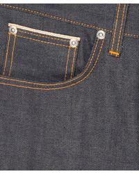 Nudie Jeans - Blue Grim Tim Dry Orange Selvage for Men - Lyst