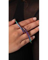 Pamela Love Multicolor Porcupine Ring