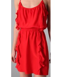 Parker | Red Two Ruffle Dress | Lyst