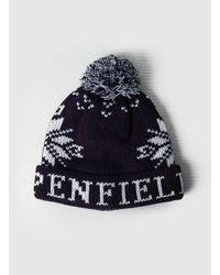 Penfield | Blue Bobble Beanie Hat for Men | Lyst
