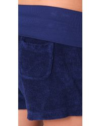 Splendid - Blue Signature Terry Shorts - Lyst