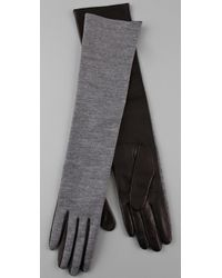3.1 Phillip Lim Gray Blanca Long Gloves