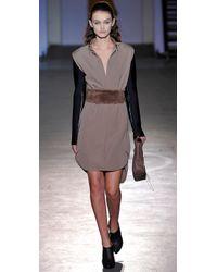 3.1 Phillip Lim Brown Lynus Wide Fur Belt