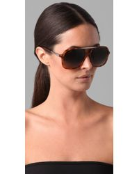 Chloé | Brown Adonis Sunglasses | Lyst