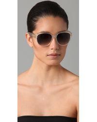 Chloé - White Cirse Retro Sunglasses - Lyst