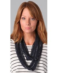 Club Monaco | Blue Kate Beaded Scarf | Lyst