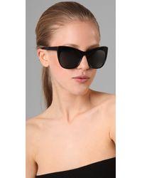 Elizabeth and James | Black Lafayette Cat Eye Sunglasses | Lyst