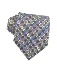 Emilio Pucci Multicolor Abstract Design Silk Tie for men