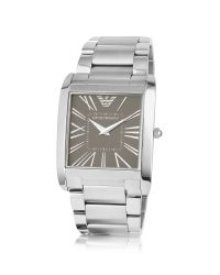 Emporio Armani - Metallic Stainless Steel Square Watch for Men - Lyst
