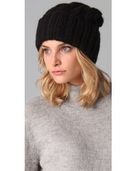Eugenia Kim - Black Jill Cable Knit Slouchy Beanie - Lyst