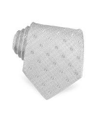 Fendi | Metallic Square Logo Woven Silk Tie for Men | Lyst