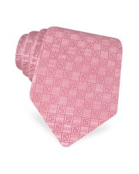 Fendi | Blue Signature and Ff Logo Checked Woven Silk Tie for Men | Lyst