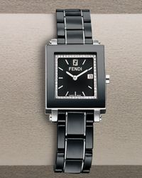 Fendi | Black Diamond Ceramic Watch | Lyst