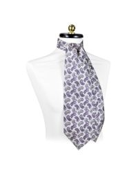 FORZIERI - Gray Large Paisley Print Silk Ascot for Men - Lyst