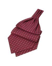 FORZIERI | Purple Polkadot Printed Twill Silk Ascot for Men | Lyst