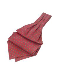 FORZIERI - Red Mini Paisley Print Twill Silk Ascot for Men - Lyst