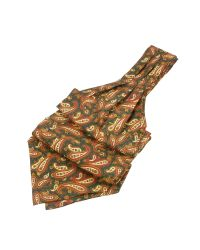 FORZIERI - Green Paisley Print Twill Silk Ascot for Men - Lyst