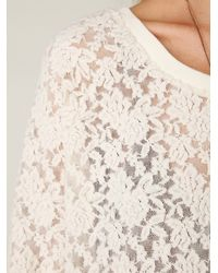 Free People | White All Over Lace Pullover | Lyst