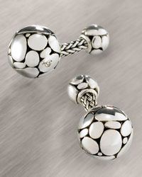John Hardy | Metallic Kali Round Cuff Links for Men | Lyst