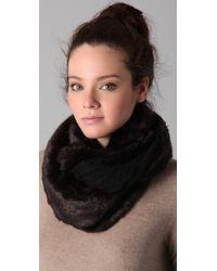 Juicy Couture - Black Middlebury Fur & Knit Loop Scarf - Lyst