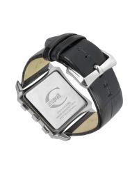 Just Cavalli   Blade - Black Croco Leather Strap Chrono Watch for Men   Lyst