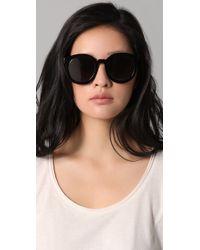 Karen Walker Black Super Duper Strength Sunglasses