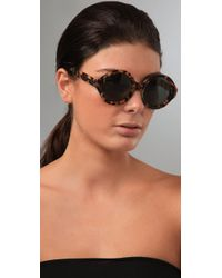 Karen Walker | Animal Number Six Sunglasses | Lyst