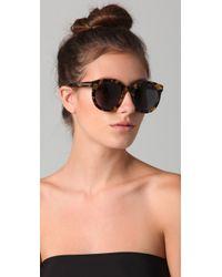 Karen Walker Multicolor Super Duper Strength Sunglasses Crazy Tort