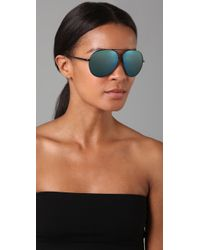 Marc By Marc Jacobs | Blue Mirrored Aviator Sunglasses | Lyst