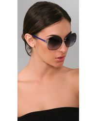 Marc By Marc Jacobs - Blue Slim Line Sunglasses - Lyst