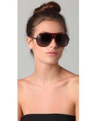 Marc By Marc Jacobs - Purple Oversized Aviator Sunglasses - Lyst