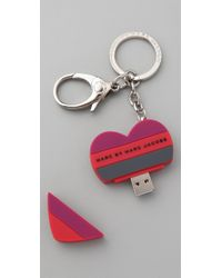 Marc By Marc Jacobs | Red Stacked Heart Usb | Lyst
