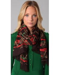 Marc By Marc Jacobs | Brown Running Impala-print Stole | Lyst