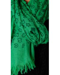 Marc By Marc Jacobs | Green Stardust Logo Scarf | Lyst