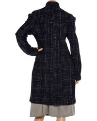 Marni - Black Pimpernel Blossom Jacquard Double Breasted Coat - Lyst