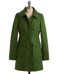 ModCloth | Green Junior Copy Writer Coat in Grass | Lyst