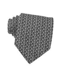 Moschino Black Bla Bla Bla Woven Silk Tie for men