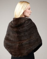 Pologeorgis - Black Knit Mink Shawl - Lyst