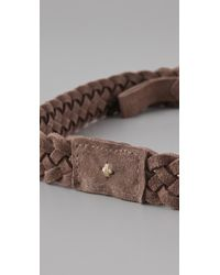 Rag & Bone | Brown Braided Belt | Lyst