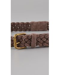 Rag & Bone | Brown Braided Belt | Lyst
