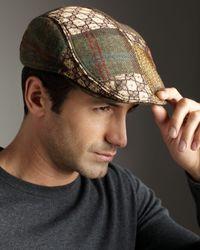 Robert Graham Brown Wyatt Patchwork Ivy Cap for men