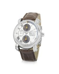 Roberto Cavalli Brown Anniversary - Automatic Stainless Steel Chrono Watch for men