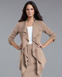 St. John | Natural Milano Ruffle Jacket | Lyst