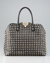Valentino Black Rockstud Dome Bag