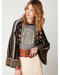 Free People | Multicolor Stripe Kimono Sweater | Lyst
