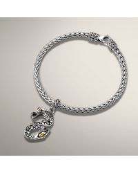 John Hardy Metallic Gold and Silver Dragon Charm Bracelet